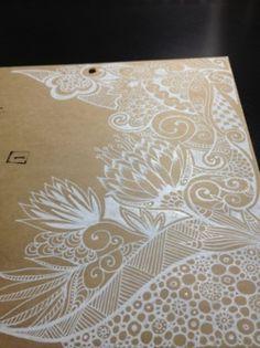 zentangles | Tumblr White pen doodles on coloured paper