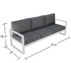 Add a contemporary look to your patio or deck with the Baltic outdoor sofa from Real Flame.