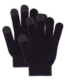 Feature: These conductive smart gloves conveniently work with touchscreen devices including phones, tablets, and more. Keep your fingers warm! You don't need to take these gloves off to use your smart devices.   Description: Material: 95% acrylic, 5% spandex Size: One size fits most