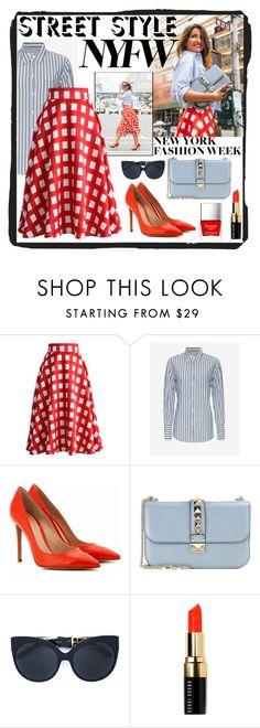 Fashion NYFW by humblechick1 on Polyvore featuring Nili Lotan, Chicwish, Gianvito Rossi, Valentino, Linda Farrow, Bobbi Brown Cosmetics, Butter London, women's clothing, women's fashion and women