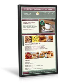 Digital signage Touch screen menu in Restaurents