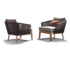 Mood Sofa / Club Chair | Teak by Tribù | Garden armchairs