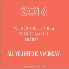 Let's do this! #mondaymotivation #NewYear2016