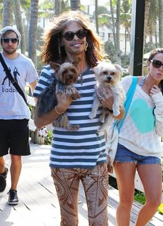 Steven Tyler Photos - Aerosmith frontman Steven Tyler takes his dogs for a walk with friends in Miami, Florida on December - Steven Tyler Takes His Dogs for a Walk Mia Tyler, Rock Roll, Steven Tyler Aerosmith, Joe Perry, Man In Love, Johnny Depp, Music Bands, Hard Rock, Bands