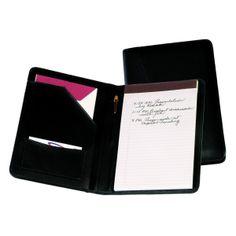 Royce Leather Junior Writing Padfolio Premium Man Made Leather 743-BLACK-10