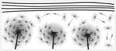 York Wall Coverings York Wallcoverings Whimsical Dandelion Peel and Stick Giant Wall Decals