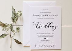 Printable Wedding Invitation Set that you can edit with all your wedding details. Available immediately as an instant download!  With this high resolution, printable invitation set, you can easily print from home or through a local/online print shop.  LISTING INCLUDES: • 5 x 7 Invitation Template (two per 8.5 x 11 page) • 3.5 x 5 RSVP Template - with meal options (four per 8.5 x 11 page) • 3.5 x 5 RSVP Template - no meal (four per 8.5 x 11 page) • 3.5 x 5 Details Template - (four per 8.5...