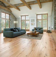 60 Awesome Farmhouse Flooring Design Ideas And Decor - Wood Parquet Farmhouse Flooring, Wooden Flooring, Flooring Ideas, Living Room Flooring, Design Case, Floor Design, Family Room, Living Spaces, Sweet Home