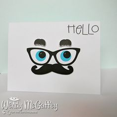 tcp release by - Cards and Paper Crafts at Splitcoaststampers Mustache Cards, Men's Cards, Paper Crafts, Diy Crafts, Punch Art, Diy Tutorial, Cat's Pajamas, Card Making, Creative