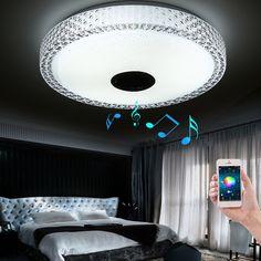 New Design APP Bluetooth Music LED Ceiling Light Smartphone Dimming Discoloration Light Fixture LED Modern Lighting #Affiliate