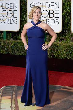 Kate Winslet en robe Ralph Lauren. Toutes les photos >> http://www.taaora.fr/blog/post/robes-golden-globes-2016-photos-tapis-rouge-jennifer-lawrence-cate-blanchett-kate-winslet-kirsten-dunst #katewinslet #goldenglobes #goldenglobes2016