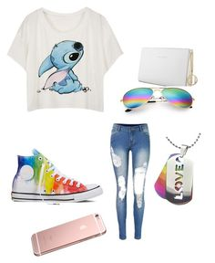"""""""Gay pride outfit"""" by davon446 on Polyvore featuring Converse and Trussardi"""
