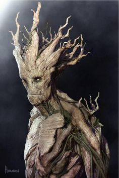 Groot concept art by Josh Herman