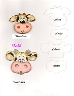 APRENDE A CONFECCIONAR JUEGOS DE COCINA DE TELA CON PATRONES PASO A PASO 🖐🖐 Paper Piecing Patterns, Felt Patterns, Sewing Patterns, Foam Crafts, Diy And Crafts, Cow Pattern, Country Paintings, Mickey Minnie Mouse, Animal Pillows