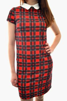 Online Women's Clothing and Celebrity Inspired Dresses Tartan, Plaid, Style Fashion, Fashion Looks, Check Printing, Cap Sleeves, Knitwear, Jumpsuit, Tunic