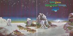 cover art by Roger Dean, Tales from Topographic Oceans Tales From Topographic Oceans, Roger Dean, Sense Of Sight, Spiritual Advisor, Ocean Wallpaper, Dream Interpretation, Spiritual Messages, Psychic Readings, Card Reading