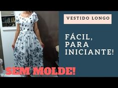 In this video I decided to bring a quick and easier way to make a video without mold. For you who have difficulty making molds, in today's class I will teach you how to make a long dress, gathered at the waist and with Japanese sleeve, using only one v = Japanese Sleeve, Sewing Tutorials, Kurti, Plus Size, Templates, Couture, Dress Template, Dresses, Sensual
