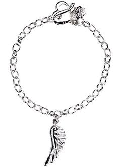 Dower & Hall, Charm Collection - Solid Sterling Silver Angel Wing on Oval Belcher Charm Bracelet