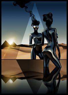 Sci-Fi-O-Rama / Science Fiction / Fantasy / Art / Design / Illustration goodall Creative Illustration, Illustration Art, Illustrations, Science Fiction, Airbrush Art, Fantastic Art, Awesome Art, Retro Art, Retro Futurism