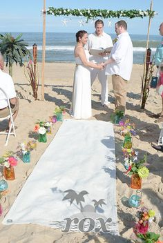 Pre Ceremony Beach Wedding Rehearsal With Bride And Ocean City Maryland Minister Pastor Sean Rox Https Www Roxbeachweddings Weddings