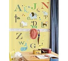 Animal Alphabet Peel & Stick Wall Decals by RoomMates