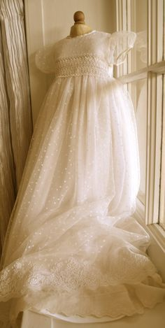 I believe this is the most beautiful one I've ever seen!   Couture Baptism Gown Christening Gowns by CouturesbyLaura on Etsy