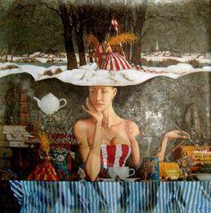 painting by Roman Zaslonov
