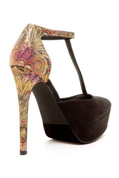 Two Lips Too Tipsy T-Strap High Heel