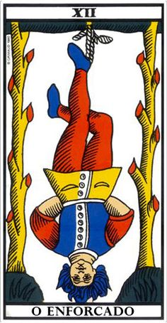 Le Pendu - Tarot of Marseille (the hanged man) Hanged Man Tarot, The Hanged Man, Rose Croix, Tarot Gratis, Major Arcana, Oracle Cards, Tarot Decks, Numerology, Tree Of Life