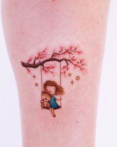 70 Best Unique And Minimal Colorful Tattoos - TheTatt Small Inspirational Tattoos, Minimal Tattoo Design, Most Popular Tattoos, Creative Tattoos, Skin Art, Body Tattoos, Back Tattoo, Tattoo Artists, Watercolor Tattoo