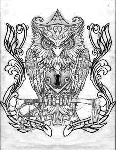 Owl Drawings | Home Angel Tattoos Japanese Tattoos Pin Up Tattoos Superhero Tattoos ...