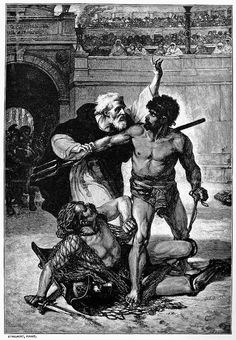 Telemachus was a Christian martyr who according to Church historian Theodoret tried to stop a gladiatorial fight in the Roman Coliseum and was stoned to death by the crowd. http://prayerfoundation.org/favoritemonks/favorite_monks_telemachus_coliseum.htm