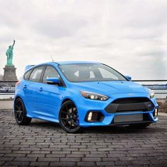 Cool Ford: Ford Focus RS blau Freiheitsstatue... Cars Check more at http://24car.top/2017/2017/04/26/ford-ford-focus-rs-blau-freiheitsstatue-cars/