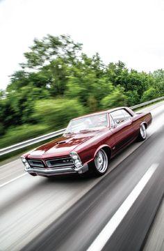 1965 Pontiac Gto On The Road