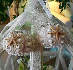 Sea Urchin and Starfish Ornament / Beach Wedding Favor