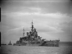 HMS Renown HMS RENOWN at anchor in Hvalfjord, Iceland (Photograph taken from the aircraft carrier HMS VICTORIOUS) during the search for the TIRPITZ. The battleship aft of RENOWN is possibly USS TEXAS, which arrived in Iceland in late January to escort a convoy back to British waters.