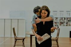 """Anita Hegh rehearsing for """"The father"""" ❤️"""