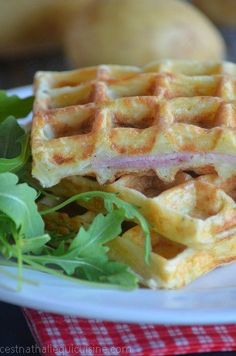 Creamy Salad Dressing, Potato Waffles, Clean Eating Chicken, Quiche, Exotic Food, Baked Fish, Football Food, Crepes, Ham And Cheese