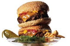 Recipe: Power Cheeseburger by Maura Egan and Christine Muhlke | Photo: James Wojcik for The New York Times