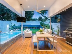 Our Hampton Style Forever Home: A Modern Hamptons Masterpiece Outdoor Areas, Outdoor Rooms, Outdoor Living, Outdoor Furniture Sets, Hamptons House, The Hamptons, Back Garden Design, Modern Country Style, Ranch Style Homes