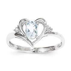 - 14k White Gold (solid) - Approx. 1.72gm Width of Band :2 mm Thickness: 2 mm Plating:Rhodium - Gift Boxed Stone Type: Aquamarine Stone Creation Method:Natural Stone Treatment:Heating Stone Shape:Oval