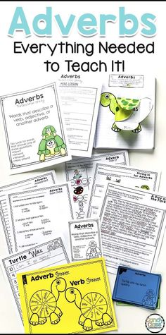 This adverbs bundle includes everything needed to teach this important grammar concept. This adverbs resource includes an anchor chart, lessons, fun games, task cards, an interactive notebook entry or journal entry option, no prep worksheets for extra practice, a writing prompt, quick checks, and an assessment. Students activities include things like sorting to writing with them in sentences. This is geared for second grade, but it can also be used in 3rd grade too.