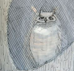 My owl sketch for wax