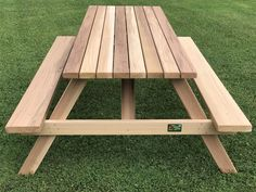 Western Red Cedar Picnic Table with Attached Backs Square Patio Table, Octagon Picnic Table, Wooden Picnic Tables, Picnic Table Plans, Outside Furniture, Cheap Furniture, Furniture Stores, Furniture Design, Outdoor Furniture