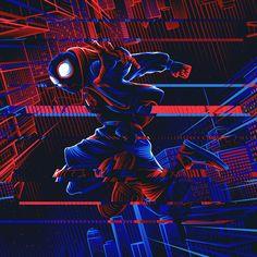 Spiderman Into the Spider-Verse Illustration Black Spiderman, Spiderman Spider, Amazing Spiderman, Spiderman Poster, Superhero Poster, Spiderman Stickers, Marvel Art, Marvel Heroes, Siper Man