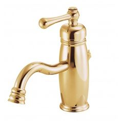 Photo Of Danze Opulence Single Handle Single Hole Bathroom Sink Faucet with Metal Popup Drain and Optional Deck Plate in Polished Brass