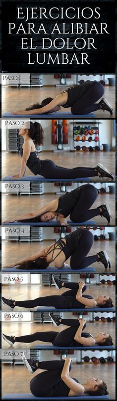 Te recomendamos estos ejercicios para liberar el dolor en la zona lumbar