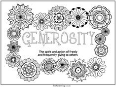 This colouring picture about generosity is a colourful way to remind eveyone of the importance of generosity of both spirit and material goods. Coloring Pictures For Kids, Best Trampoline, Colouring Pages, Printable Coloring, Favorite Holiday, Free Printables, Activities For Kids, Spirit, Rainbow