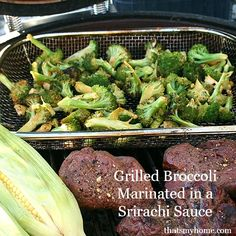 Grilled Broccoli Marinated with Srirachi Sauce » Recipes, Food and Cooking  #grilledbroccoli #kamadogrill
