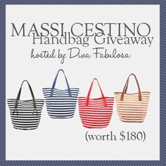 Massi Cestino Tote Giveaway!!  (ends 1/28)